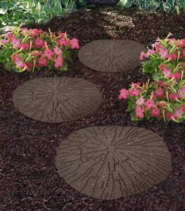 Cracked Log Stepping Stones Recycled Rubber Hard Wearing Durable