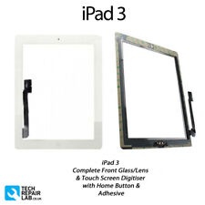 NEW iPad 3 Complete Front Glass/Digitiser Touch Screen/Panel Assembly - WHITE