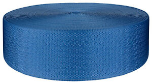 2 Inch Egyptian Blue Seat-Belt Polyester Webbing Closeout, 20 Yards