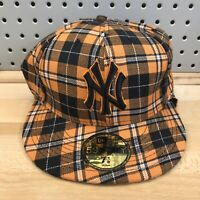 New York Yankees New Era Brand 59Fifty Fitted Hat Ear Flaps EUC Cap Size 7 1/8