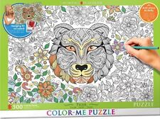 Jigsaw Puzzle Color Me Tiger 500 pieces NEW Paint it Yourself Stress Relief