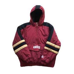 Vintage San Francisco 49ers FortyNiner Starter Jacket Pullover Hooded Mens Large