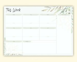 Family Planner A3, Large White Board, To Do List Organiser,Food Meal planner