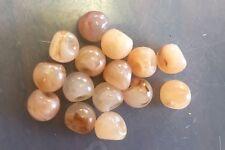 Vintage Japan Light Peach Mix Earthy Tonal Chubby Drop Nest Lucite Beads