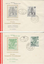 Austria FDCs 1961 Nationalised Industries set on five covers