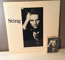 "STING - ...Nothing Like The Sun - 12"" Vinyl Record LP AND CASSETTE TAPE - EX"