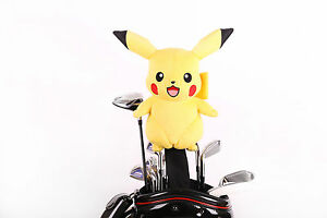 Custom Made Pokemon Pikachu Golf Headcover for 460cc Driver or Wood