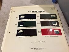 1938 FORD CAR  AND FORD TRUCK, PAINT CHIPS  CHART