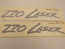 "POWERQUEST 270 LASER DECAL PAIR (2) BLACK SLATE 13 1/8"" X 2 1/8"" MARINE BOAT"