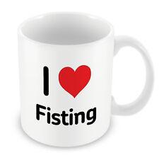 I Love Fisting Mug Heart Gift Idea Christmas Funny Coffee Sexy