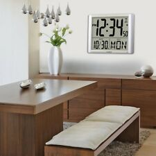 Wall Clock 16 in. x 20 in. Electronic Super Large Atomic Digital Non-ticking