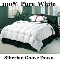DOUBLE BED SIZE 100% PURE SIBERIAN GOOSE DOWN DUVET