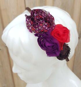 Claire's Femmes Cheveux Accessoire Plastique Bandeau Multicolore Floral Style