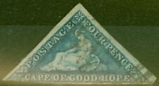 Cape of Good Hope 1863 4d Blue SG19a Good Used