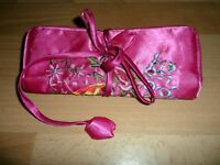 PRETTY PINK VANITY CASE WITH ZIPS