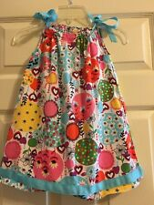 Hanna Andersson Floral Pillowcase Dress Girls Size 100 4