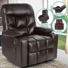 Brown Auto Electric Leather Power Lift Massage Recliner Chair Sofa Usb w/Remote