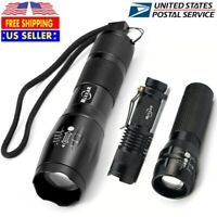 Super Bright Aluminum T6 LED Flashlight Rechargeable Zoom Torch 18650 5 Modes