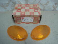 2 NOS GENUINE ISUZU HAKKOSHA ELF KA TL TLD FRONT SIGNAL LIGHT LENSES AMBER COLOR