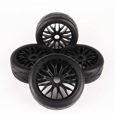 4Pcs RC Flat Racing Tire Wheel Rim Set Fit HSP HPI Traxxas 1:8 On-Road Car 103mm