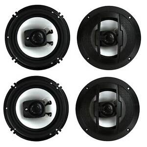"""Boss Audio R63 Riot 6.5"""" 600W 3 Way Car Audio Coaxial Speakers Stereo 4 Ohm"""