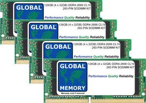 """128GB (4x32GB) DDR4 2666MHz PC4-21300 260-PIN SODIMM RAM KIT 27"""" IMAC 2019/2020"""