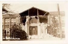 Earthquake Junior High School Long Beach California 1933 RPPC Photo Postcard