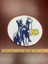 """Vintage ORIGINAL 1970'S KANSAS CITY SCOUTS EMBROIDERED NHL HOCKEY PATCH Huge 8"""""""