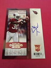 Stepfan Taylor  Cardinals  2013 Panini Contenders Auto Rookie #234
