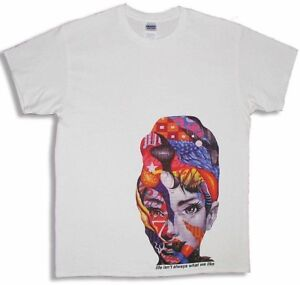 Roman Holiday Audrey Hepburn White T-Shirt Rainbow + FREE NYC STREET ART ZINE