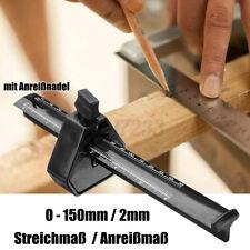 Streichmaß 200mm Stellmaß Anschlaglineal Anreißmaß Anreißwerkzeug Tischlerwerkze