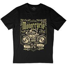 Skull Mens T-Shirt Motorcycles V-Neck Tank Top Vest Tshirt D576