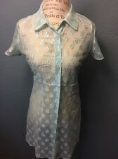 Vtg Lace Teal Turquoise Dress Size Small  So Cute