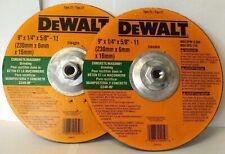 "DeWalt Dw4959 9"" x 1/4"" x 5/8""-11 Concrete / Masonry Grinding Wheels Usa 2Pcs"
