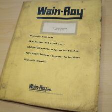 Wain Roy Cat Caterpillar D3 931 F Series Backhoe Parts Manual Installation Book