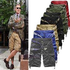 Herren Cargo Shorts Vintage Bermuda Camouflage Kurz Hosen Sport Cargohose Pant L