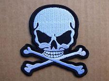 ECUSSON PATCH THERMOCOLLANT aufnaher toppa SKULL BONE pirate biker /7.2 x 8cm