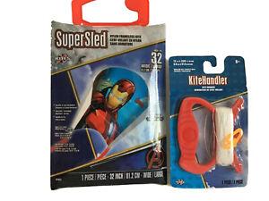 Super Sled Nylon Kite 32 Inch and string Avengers Iron Man