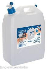 Draper 23247 contenedor de agua con grifo 25 L