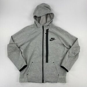 Nike Tech Fleece Full Zip Jacket Grey Youth Size Large
