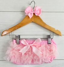 Girls Cake Smash Photo Shoot 1st First Birthday Frilly Knickers & Bow Outfit Set