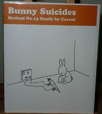 Blank Greetings Card : Bunny Suicides Method No.13 Death By Carrot