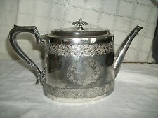 Walker & Hall Sheffield England silver coffee/teapot garland design