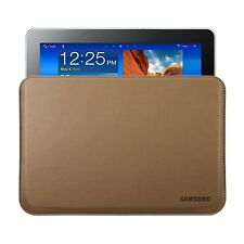 "BROWN SAMSUNG GALAXY 10.1"" TABLETS LEATHER POUCH SLIP SLEEVE CASE COVER"