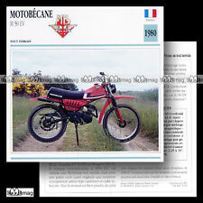 #073.14 Cyclo MOTOBECANE M 50 EV (M50 M50EV) 1980 Fiche Moto Motorcycle Card