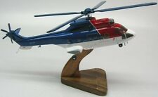 Aerospatiale AS-332L1 Super Puma Helicopter Wood Model Small Free Shipping
