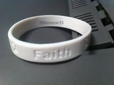 1 White Lung Cancer Awareness Silicone ADULT Bracelet Wristband