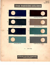 1940 HUDSON TRAVELER BIG BOY DELUXE COUNTRY CLUB BUSINESS 40 PAINT CHIPS DITZLER