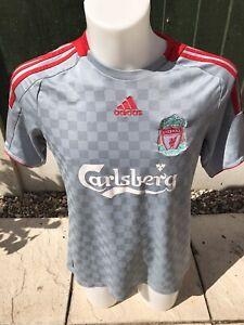 Liverpool Away Shirt 2008/09 Adidas Small Classic Soccer Jersey
