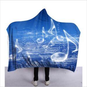 Starry Sky Boho Skull Hooded Blanket Anti-Pilling Wearable Throw Cape Wrap